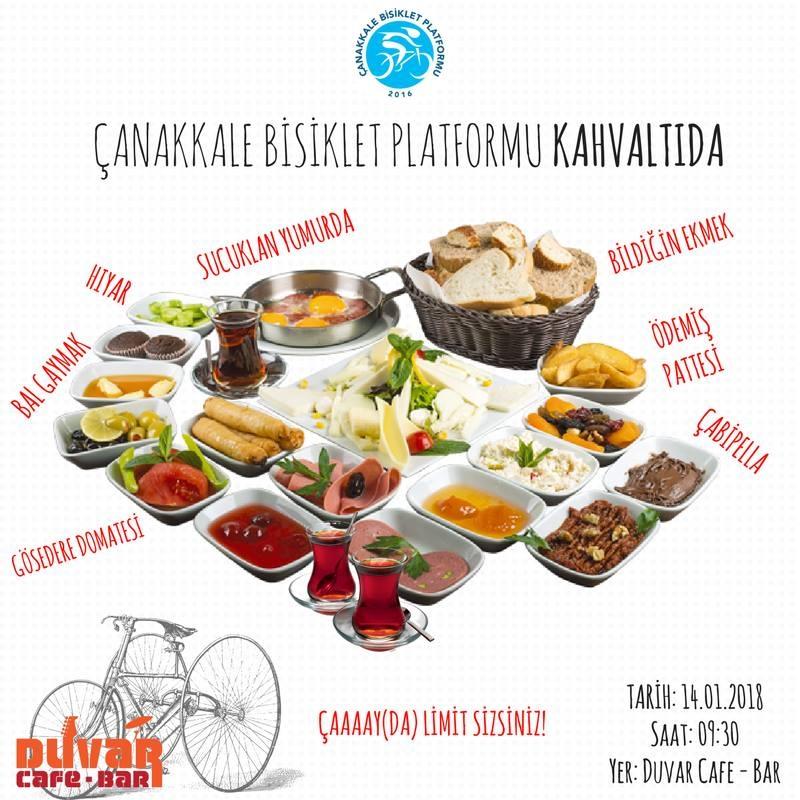 Çanakkale Bisiklet Platformu Kahvaltıda