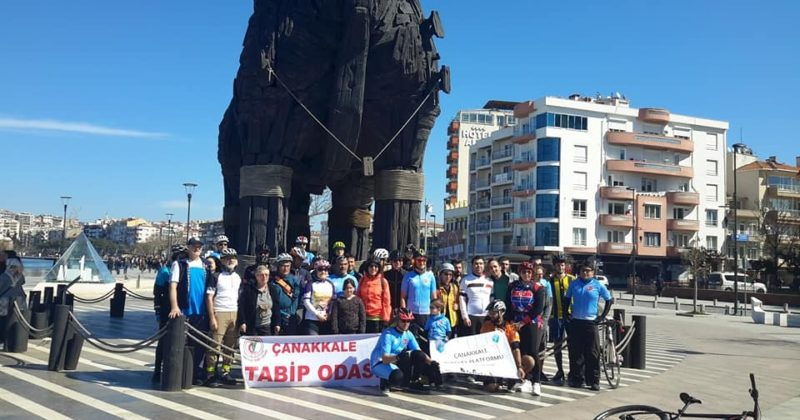 14 Mart Tıp Haftası Etkinlikleri Bisiklet Turu Gerçekleştirildi
