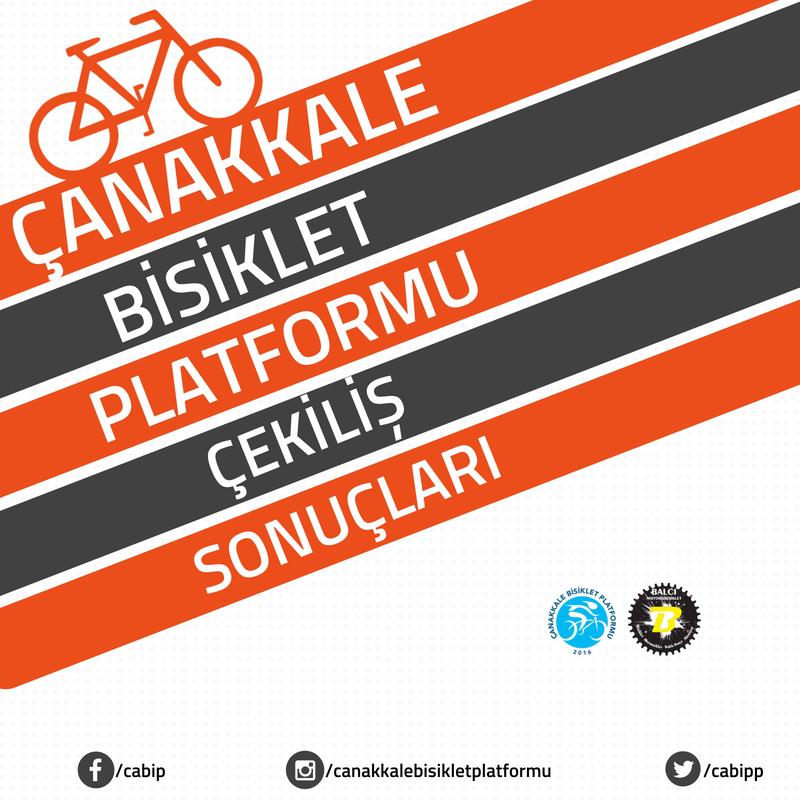 Çanakkale Bisiklet Platformu Çekiliş Sonuçları