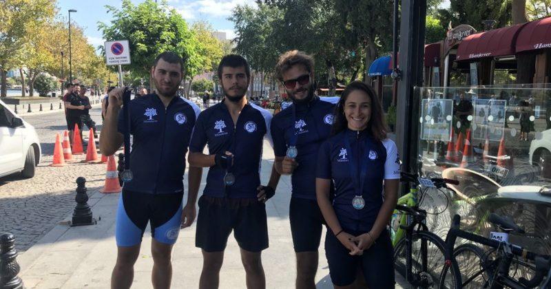 Troya Gran Fondo'da ÇABİP Gönüllüleri