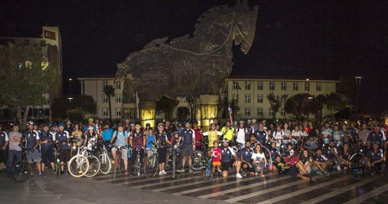 Troia Festivali Bisiklet Turu Gerçekleştirildi