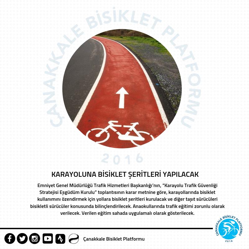 Karayoluna Bisiklet Şeritleri Yapılacak!