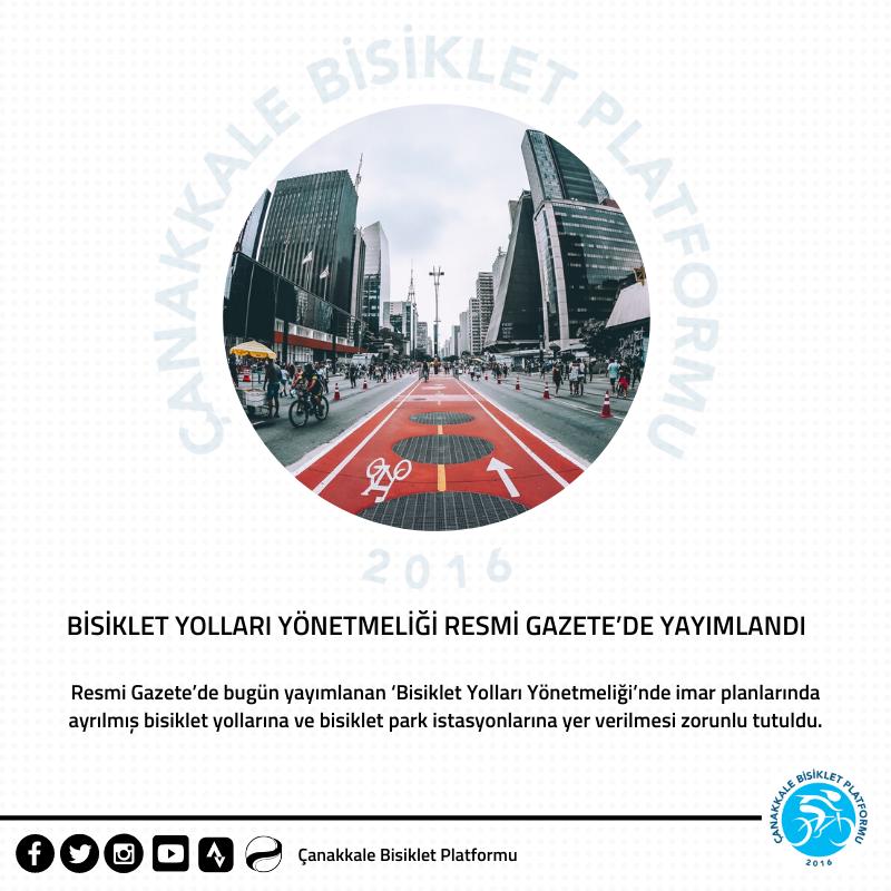 Bisiklet Yolları Yönetmeliği Resmi Gazete'de Yayımlandı