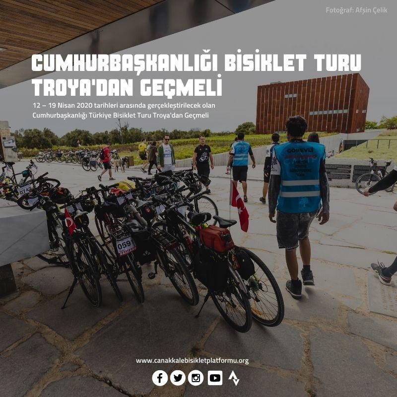 ÇABİP: Cumhurbaşkanlığı Bisiklet Turu Troya'dan Geçmeli